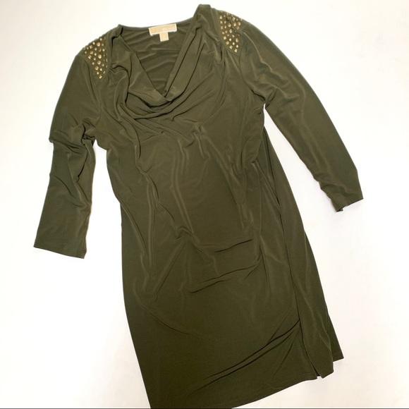 MICHAEL Michael Kors Dresses & Skirts - Michael Michael Kors Medium Green Studded Dress